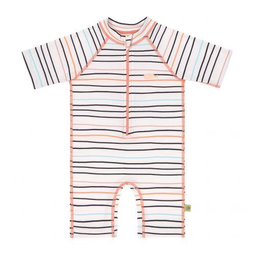 Lässig---Girls'-UV-swimsuit---short-sleeve---multicolour-stripes