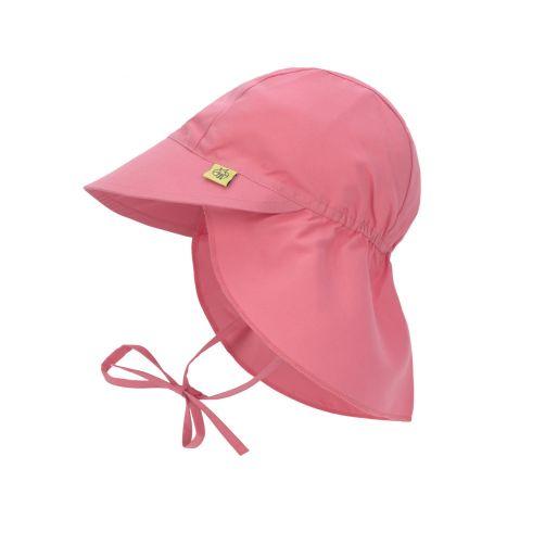 Lässig---Girl's-UV-cap-with-neck-flap---Sugar-Coral---coral