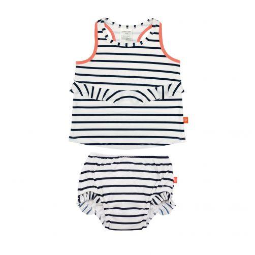 Lässig---Tankini-for-girls-Striped---White-/-Blue