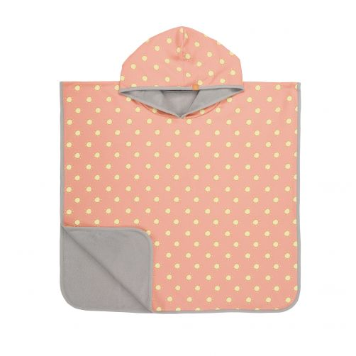 Lässig---Baby-towel-for-children-Sun---Peach-/-Yellow