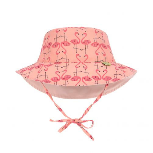 Lässig---Girl's-UV-hat-reversible---Flamingo---peach-/-pink