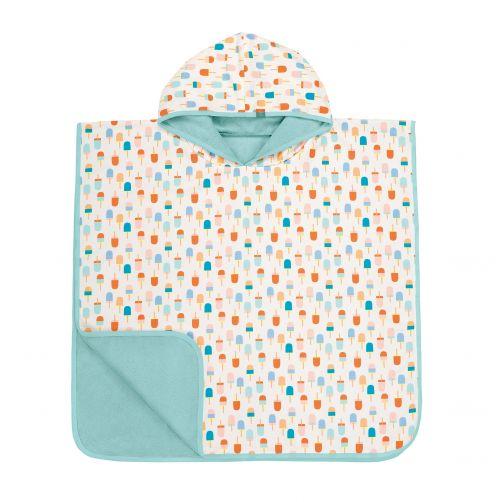 Lässig---Baby-towel-for-children-Ice-cream---White-/-Peach-/-Blue