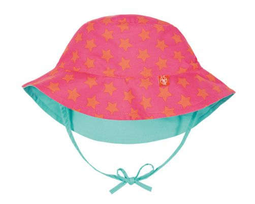 Lässig---UV-sun-hat-for-children-Stars---Pink-/-Peach