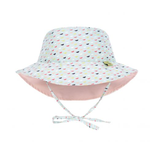 Lässig---Babies'-UV-hat-reversible---Fish-Scales---blue-/-pink