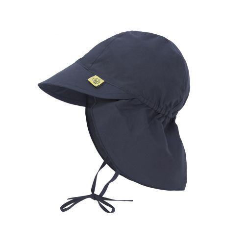 Lässig---Babies'-UV-cap-with-neck-flap---dark-blue
