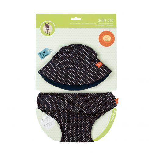 Lässig---UV-set-including-swim-diaper-and-beach-hat---Dark-blue
