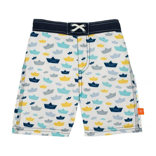 Lässig---Swim-shorts-for-boys---Boat---White-/-Blue-/-Yellow