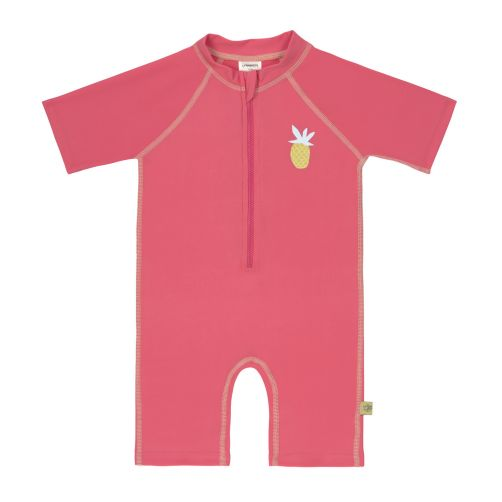 Lässig---Girls'-UV-swimsuit---short-sleeve---Pineapple---pink