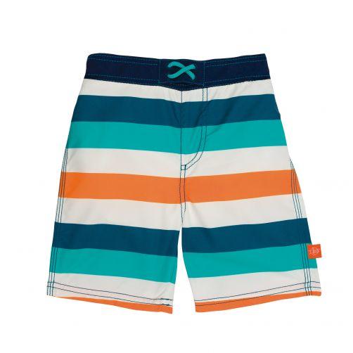 Lässig---Swim-shorts-for-boys---Striped---White-/-Blue-/-Peach