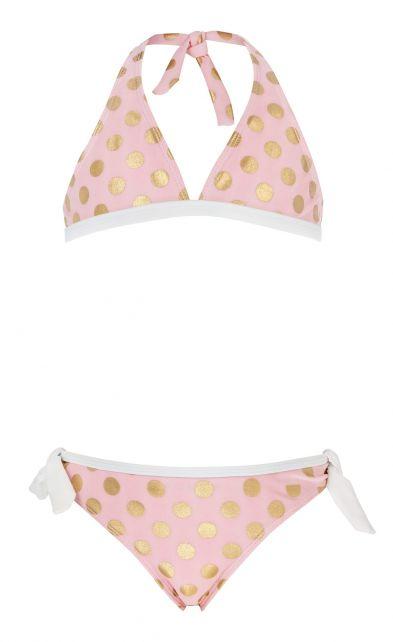 Snapper-Rock---Ballet-Pink-&-Gold-dots-Bikini