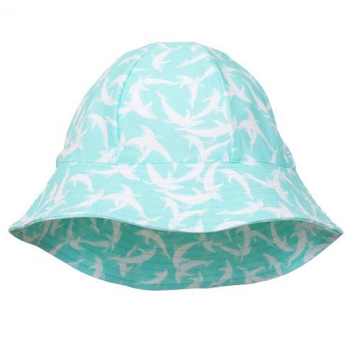 Petit-Crabe---UV-Sun-hat-for-children---Dolphin---Mint