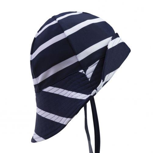 Petit-Crabe---UV-Sun-hat-for-children---Striped---Navy/White