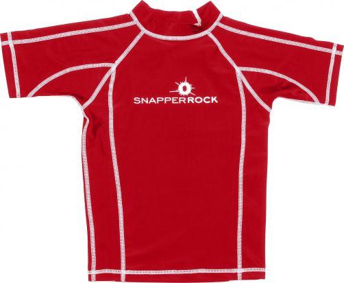 Snapper-Rock---SS-UV50-Rash-top---Solid-Red