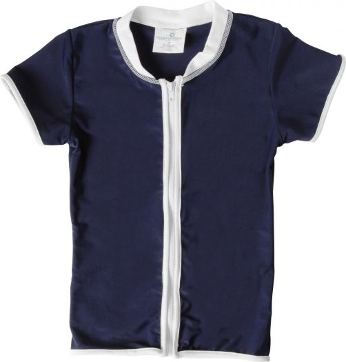 Snapper-Rock---UV-Shirt-Kids-Short-Sleeve--Navy-Zip-Thru