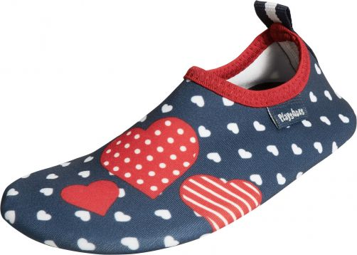 Playshoes---UV-barefoot-shoes-for-girls---hearts---dark-blue