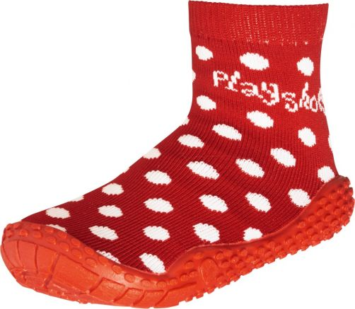 Playshoes---Swim-socks-for-children---Dots---Red