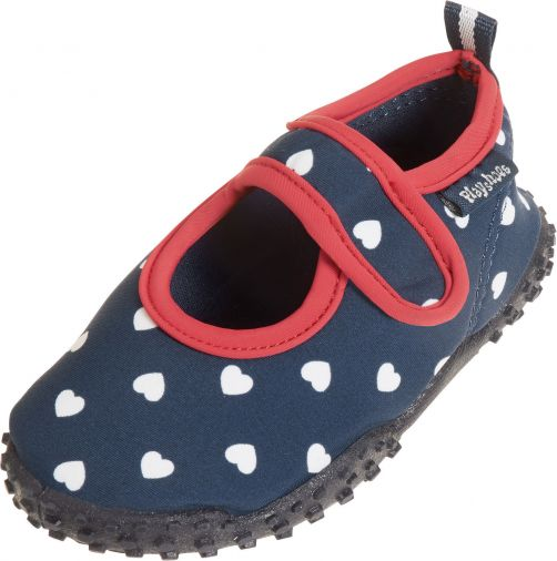 Playshoes---UV-water-shoes-for-girls---hearts---dark-blue