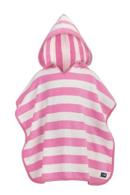 Snapper-Rock---Hooded-baby-towel-pink-stripes