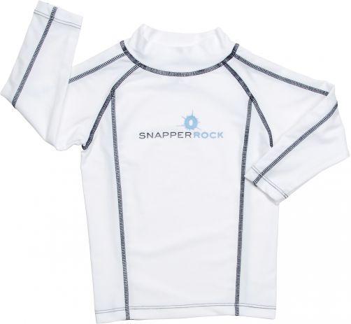 Snapper-Rock---UV-beschermend-zwemshirt-met-lange-mouwen-voor-kinderen---wit-blauw