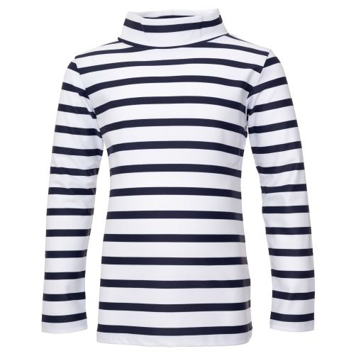 Petit-Crabe---UV-Swim-shirt-longsleeve---Striped---White/Navy