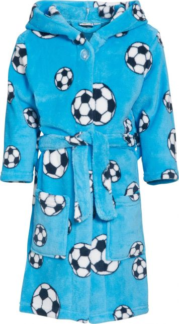 Playshoes---Fleece-Bathrobe-with-hoodie---Football-Blue