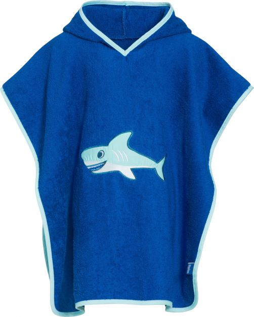 Playshoes---Baby-towel-with-hoodie---Shark