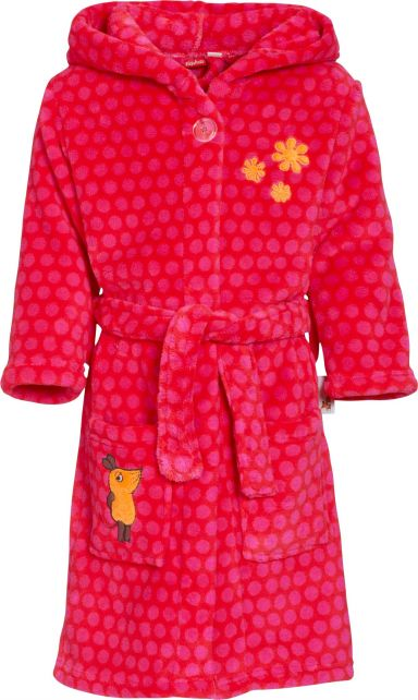 Playshoes---Fleece-Bathrobe-with-hoodie---Mouse-Pink