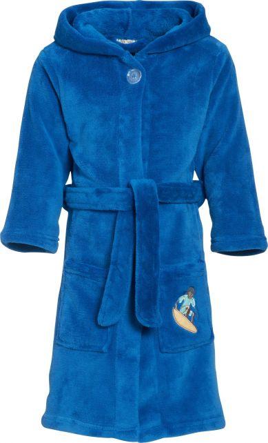Playshoes---Fleece-Bathrobe-with-hoodie---Surf-Blue