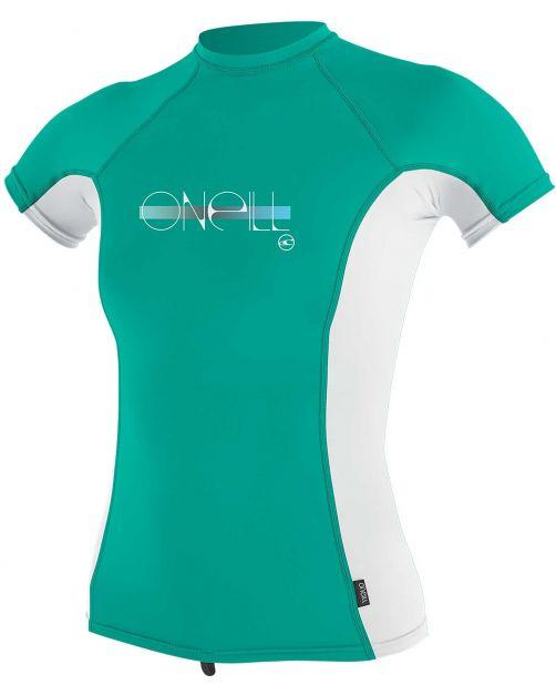O'Neill---Girls-UV-shirt---Short-sleeves---Premium-Rash---Baltic-Green