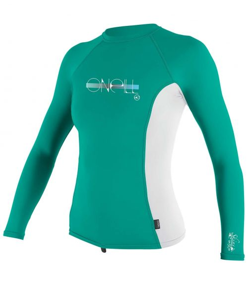 O'Neill---Girls-UV-shirt---Longsleeve---Premium-Rash---Baltic-Green