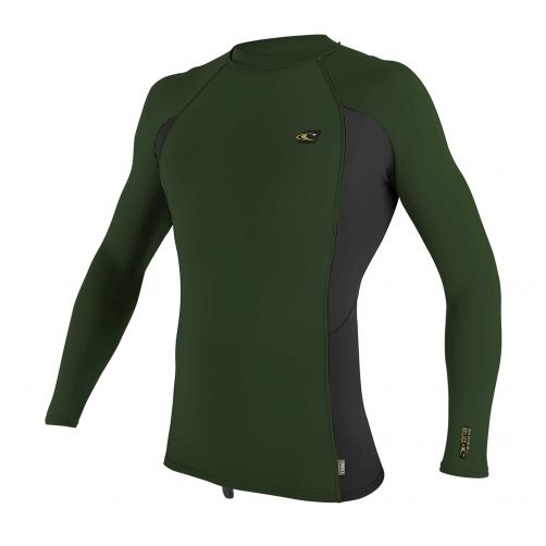 O'Neill---Men's-UV-shirt---Longsleeve---Premium-Rash---Dark-Olive