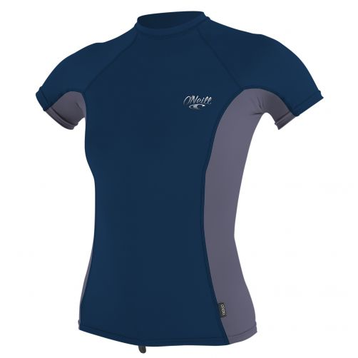 O'Neill---Women's-UV-shirt---short-sleeve---dark-blue-/-grey