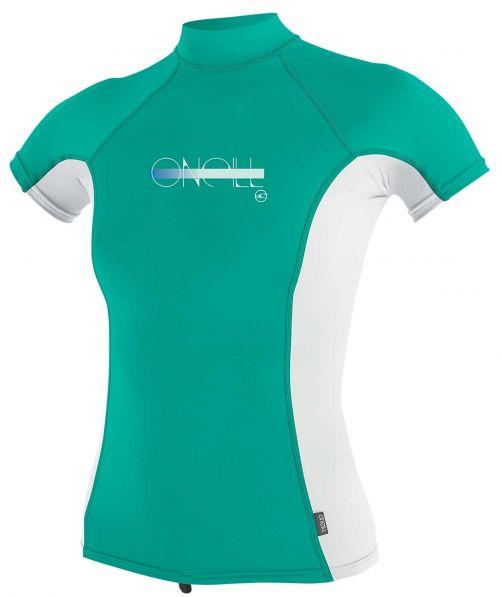 O'Neill---Girls-UV-shirt---Turtleneck---Premium-Rash---Baltic-Green