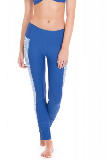 Cabana-Life---UV-resistant-Swimlegging-for-ladies---Blue/White