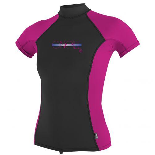 O'Neill---Girls'-UV-T-shirt---short-sleeve-Turtleneck---pink/black