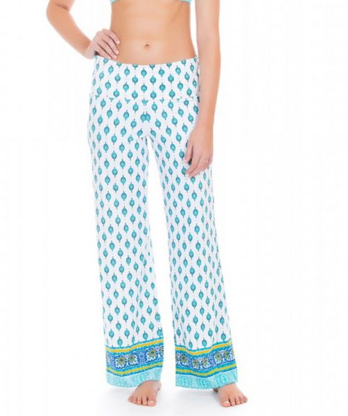 Cabana-Life---UV-resistant-beach-pants-for-ladies---Green/White