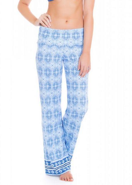Cabana-Life---UV-resistant-beach-pants-for-ladies---Blue/White