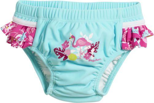 Playshoes---UV-swim-nappy-for-girls---Reusable---Flamingo---Aqua/pink
