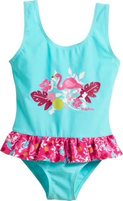 Playshoes---UV-bathing-suit-for-girls---Flamingo---Aqua-blue-/-pink