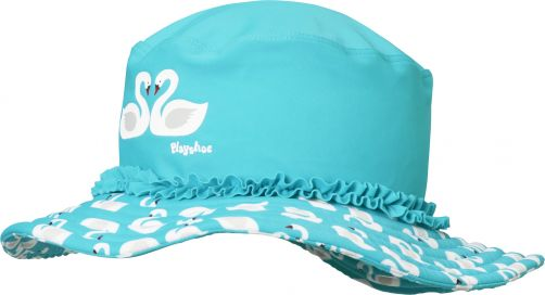 Playshoes---UV-sun-hat-for-girls---swans---light-blue