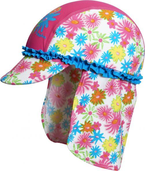 Playshoes---UV-Sun-cap-children---pink-flowers