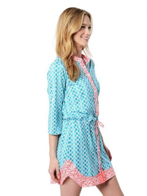 Cabana-Life---UPF-50+-Coral-Seas---Button-Dress