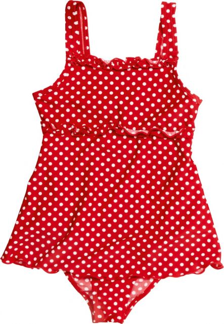 Playshoes---UV-bathing-suit-for-girls---Skirt---Dots---Red