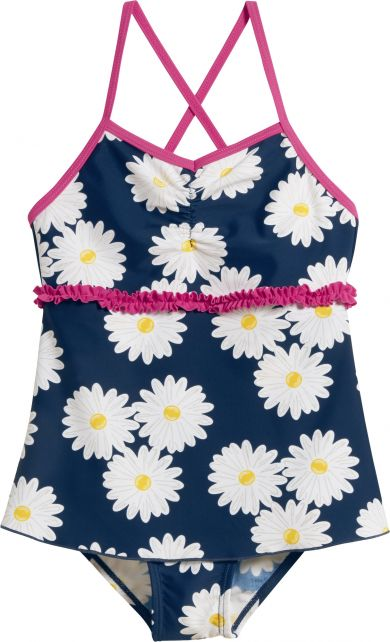 Playshoes---UV-bathing-suit-for-girls---Skirt---Oxeye-daisy---Blue