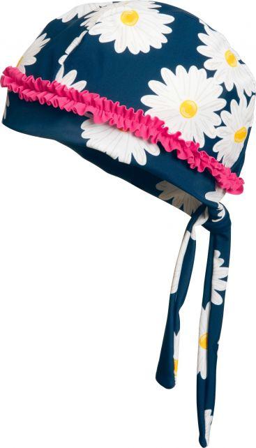 Playshoes---UV-swim-bandana-for-girls---Oxeye-daisy---Blue/pink/white