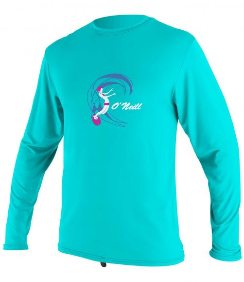 O'Neill---UV-shirt-for-girls---Longsleeve---O'Zone-Sun---Light-Aqua