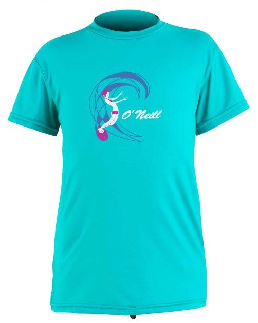 O'Neill---UV-shirt-for-girls---Short-sleeves---O'Zone-Sun---Light-Aqua