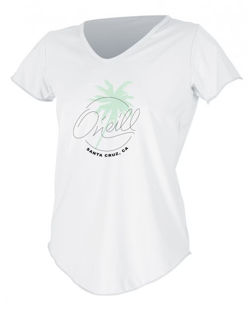O'Neill---Women's-UV-shirt---Short-Sleeves---Graphic-Sun---White
