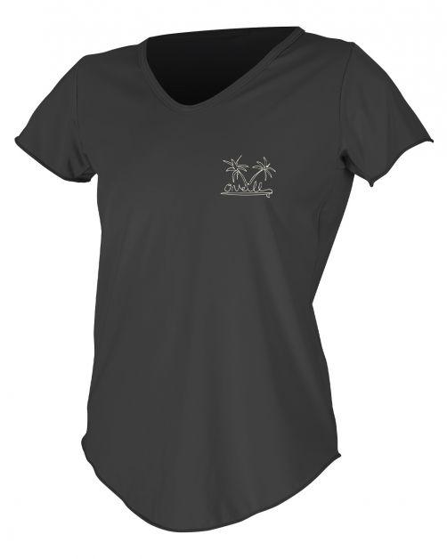 O'Neill---Women's-UV-shirt---Short-Sleeves---Graphic-Sun---Black
