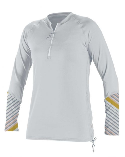 O'Neill---Women's-UV-shirt---Longsleeve---Front-Zip---White